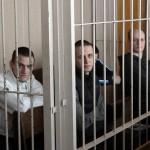 Арестованные анархисты на суде