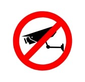 12891354-the-sign-of-no-video-surveillance-isolated-on-white-background