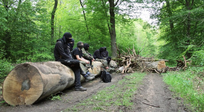 Hambach forest activist huba in jail
