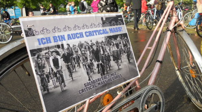 Solidarity with Critical Mass Minsk from Dresden