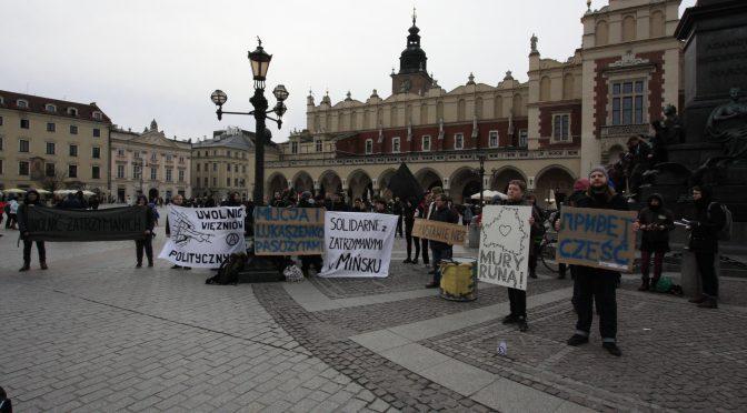 Акции солидарности с задержанными после Марша нетунеядцев прошли в Кракове и Гданьске