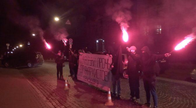 В Киеве снова пикетировали беларуское посольство